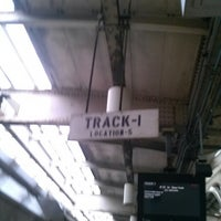 Photo taken at Newark Penn Station - Track 1 by Debora on 4/19/2013