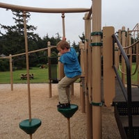 Photo taken at Cannon Beach Playground by Gregory D. on 7/30/2013