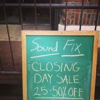 Photo taken at Sound Fix by l k. on 4/21/2013