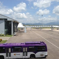 Photo taken at Krabi International Airport (KBV) by Chawan M. on 4/18/2013
