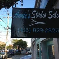 Photo taken at Annie's Studio Salon by Mitch A. on 1/8/2013