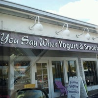 Photo taken at You Say When Yogurt Shoppe by Marta K. on 11/19/2012