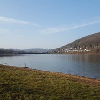 Photo taken at Happurger Stausee by Annette W. on 3/25/2018
