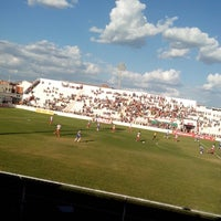 Photo taken at Estádio Cornélio de Barros (Salgueirão) by Joyce C. on 12/8/2013