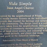 Photo taken at Vida Simple Mural By Juan Angel Chávez by William S. on 8/2/2016