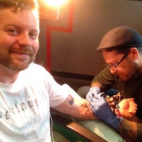 Photo taken at Shaman Modifications Tattoo and Body Piercing by Steven M. on 10/16/2013