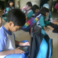 Photo taken at SD Bakti Mulya 400 by Salsa N. on 11/9/2012