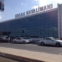 Photo taken at Ercan Airport (ECN) by Nihat Ç. on 10/2/2013