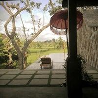 Photo taken at Ubud Padi Villa by valentino Alexander d. on 10/19/2013