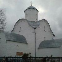 Photo taken at Церковь Успения на Волотовом поле by Максим С. on 11/14/2013