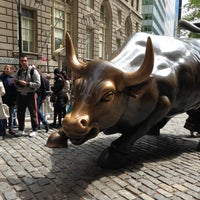Photo taken at Charging Bull by Alan M. on 5/14/2013