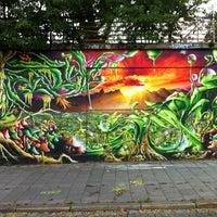 Photo taken at Graffiti Wand by Maríus M. on 8/7/2013