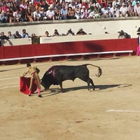 Photo taken at Arènes de Beziers by Stéphane D. on 8/18/2013