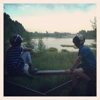 Photo taken at Freesbee-Golfbanan by Henrik M. on 7/28/2013