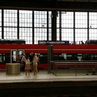 Photo taken at Berlin Friedrichstraße Railway Station by Johnson A. on 7/14/2014