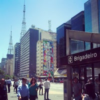 Photo taken at Estação Brigadeiro (Metrô) by Paula R. on 10/15/2012