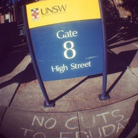 Photo taken at Gate 8, UNSW by Big M T. on 8/27/2013