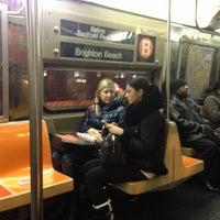 Photo taken at MTA Subway - B Train by Albert S. on 11/27/2012
