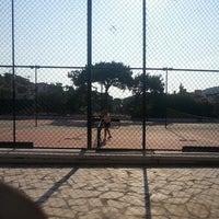 Photo taken at Çamlık Tenis Courtu by Yiğit K. on 8/11/2013