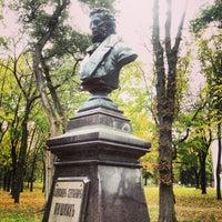 Photo taken at Памятник Пушкину А.С. by Alex M. on 10/7/2013