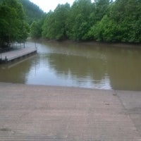 Photo taken at Burns Park Boat Launch by Aaron D. on 6/17/2013