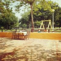 Photo taken at Yunus Emre Çay Bahçesi by Özgül  🌟 Y. on 8/24/2014