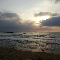 Photo taken at Leonardo Beach by Itzhak P. on 2/10/2013