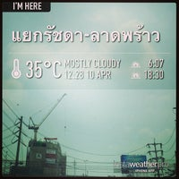 Photo taken at Ratchada-Lat Phrao Intersection by Tanapon A. on 4/10/2013
