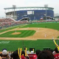Photo taken at Mudeung Baseball Stadium by hong n. on 6/1/2013