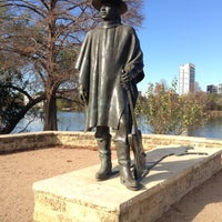 Photo taken at Stevie Ray Vaughan Statue by Steven S. on 12/11/2012