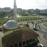 Photo taken at Kulla e Shahatit (Clock Tower of Tirana) by Murat G. on 7/8/2016
