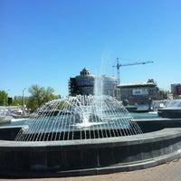 Photo taken at Музыкальный фонтан by Angie P. on 5/8/2013