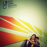 Photo taken at NUS High School of Math & Science by Kristin M. on 12/28/2012