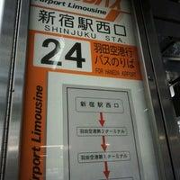 Photo taken at Shinjuku Sta. West Exit Bus Terminal by toshbo on 6/1/2012