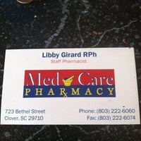Photo taken at Med Care Pharmacy by Kelly G. on 9/21/2013