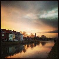 Photo taken at Kanaal Leuven - Dijle by Dirk D. on 2/21/2013