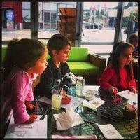 Photo taken at Landwer Café by LinkTree on 1/12/2013