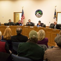 Photo taken at Boone Town Council Chambers by Andy B. on 1/8/2014