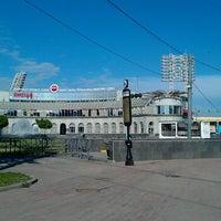 Photo taken at metro Sportivnaya by Il'ya A. on 5/28/2013