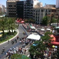 Photo taken at Plaza de Los Luceros by Begoña A. on 6/20/2013