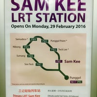 Photo taken at Sam Kee LRT Station (PW1) by Aaron W. on 3/18/2016