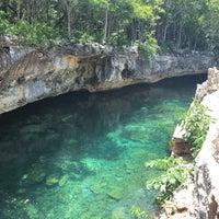 Photo taken at Cenote Tortuga (Aak') by Tiki R. on 6/1/2018