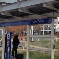 Photo taken at MetroLink - Civic Center Station by Huggi W. on 11/23/2013