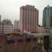 Photo taken at Shanghai Int'l Equatorial Hotel | 上海国际贵都大饭店 by WANNY S. on 1/4/2013