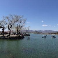 Photo taken at 昆明湖 Kunming Lake by Kai C. on 4/6/2013