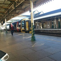 Photo taken at Weston-super-Mare Railway Station (WSM) by Andrew S. on 1/11/2014