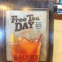 Photo taken at McAlister's Deli by Brent S. on 7/25/2013