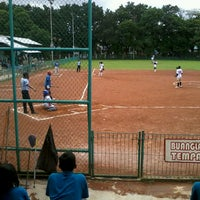Photo taken at Lapangan Softball / Baseball Lodaya by Cania D. on 4/24/2013