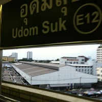 Photo taken at BTS Udom Suk (E12) by nath n. on 9/19/2012