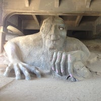 Photo taken at The Fremont Troll by Marc A. on 6/18/2013